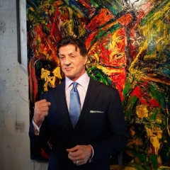 Sylvester Stallone in mostra